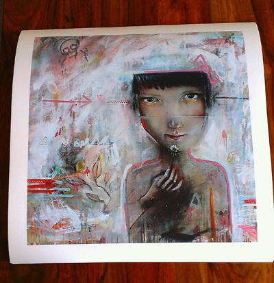 Pink Leaves Giclee Print - 2013 - Julian Kimmings